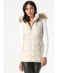 Bebe Natural Cinched Waist Puffer Vest