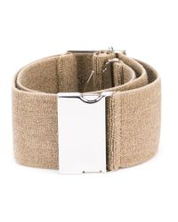 Erika Cavallini Semi Couture Natural Safety Buckle Belt