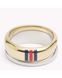 Tommy Hilfiger | Metallic Signature Ring | Lyst