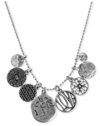 Lucky Brand - Metallic Gold-tone Short Charm Necklace - Lyst