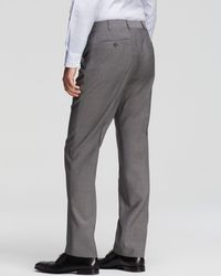 Armani | Gray Wool Trousers - Classic Fit for Men | Lyst