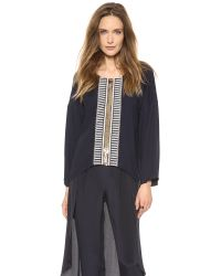 Sass & Bide Blue On The Spot Embellished Blouse French Navy