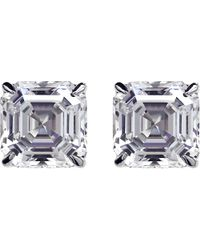 Carat* | Metallic Asscher 2ct Solitaire Stud Earrings | Lyst