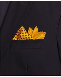 Brooks Brothers | Yellow Flower Pocket Square for Men | Lyst