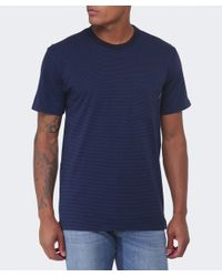 Paul Smith | Blue Pocket Striped T-shirt for Men | Lyst
