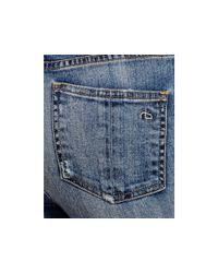 Rag & Bone Blue High Rise Skinny Jeans In Ward