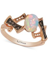 Le Vian | Pink Chocolatier® Opal (2/3 Ct. T.w.) And Diamond Accent Ring In 14k Rose Gold | Lyst