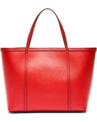 Dolce & Gabbana - Red Leather Tote Bag - Lyst
