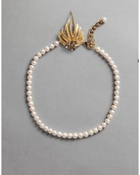 "Dolce & Gabbana | White ""pearl"" Necklace 