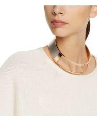 Tory Burch - Metallic Asymmetrical Collar Necklace - Lyst