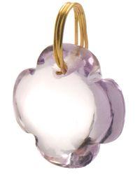 Marie-hélène De Taillac Purple Quartz Clover Charm Pendant