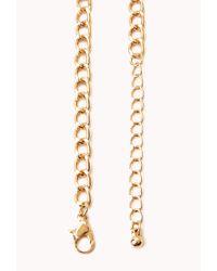 Forever 21 - Metallic Cool Girl Fringe Necklace - Lyst