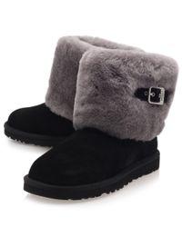 Lyst Ugg Black Ellee Suede Ankle Boots In Black
