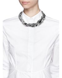 Assad Mounser - Metallic Multi Chain Strass Necklace - Lyst