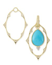 Jude Frances | Metallic Yellow Gold Moroccan Earring Frames | Lyst