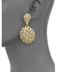 Alexis Bittar | Metallic Miss Havisham Jagged Crystal Marquis Cluster Clip-on Drop Earrings | Lyst