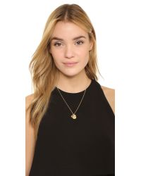 kate spade new york Metallic Horsehoe Pure Luck Charm Necklace
