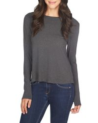 1.STATE | Gray Twist Back Knit Tee | Lyst