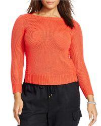 Lauren by Ralph Lauren | Orange Plus Bateau-neck Sweater | Lyst