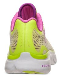 Under Armour - Yellow Women'S Spine Lazer Running Sneakers From Finish Line - Lyst