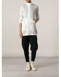 Pleats Please Issey Miyake - White Woven Jacket - Lyst
