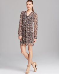 Two By Vince Camuto Black Ditsy Floral Dress