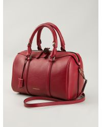 Burberry | Red Logo Tote | Lyst