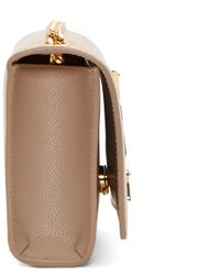 Saint Laurent Natural Beige Small Monogram Chain Bag