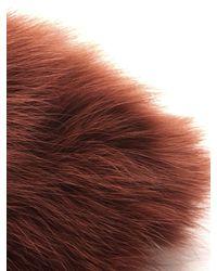 ROKSANDA Brown Anson Fur Collar