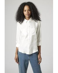 TOPSHOP | White Cotton Oversized Shirt | Lyst