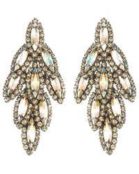 Elizabeth Cole | Metallic Bacall Earrings, Crystal Aurora | Lyst