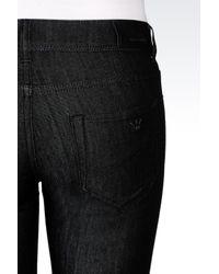 Emporio Armani | Black Super Skinny Dark Wash Jeans | Lyst