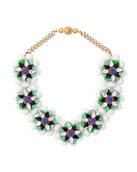 Shourouk - Narcis Xl Green Necklace - Lyst