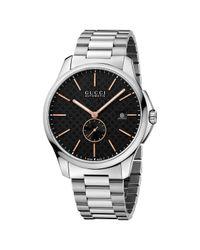 Gucci Metallic Ya126312 Men's G-timeless Automatic Bracelet Strap Watch for men