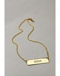 Forever 21 - Metallic This Is A Love Song X Just For The Money Boss Necklace - Lyst