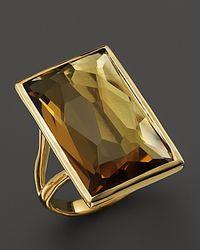 Ippolita - Metallic 18K Gold Gelato Medium Baguette Ring In Cognac Citrine - Lyst