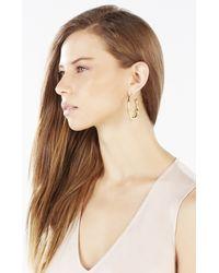 BCBGMAXAZRIA | Metallic Bamboo Hoop Earrings | Lyst