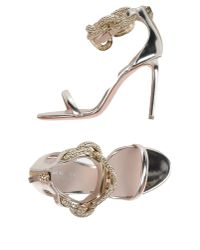 Giambattista Valli - Metallic Sandals - Lyst