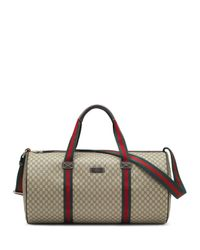 Gucci Natural Embossed Faux-Leather Gym Bag for men