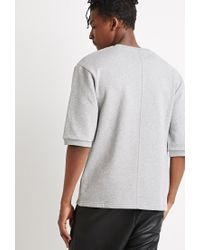 Forever 21 | Gray French Terry Knit Top for Men | Lyst