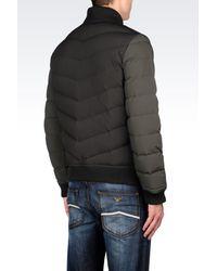 Armani Jeans   Green Down Coat for Men   Lyst