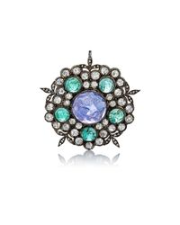 Cathy Waterman - Multicolor Mixed-gemstone Garden Pendant - Lyst