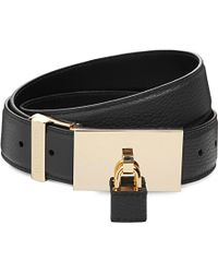 Buscemi | Black Padlock Leather Belt - For Men for Men | Lyst