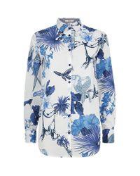 Etro | Multicolor Tropical Print Boyfriend Shirt | Lyst