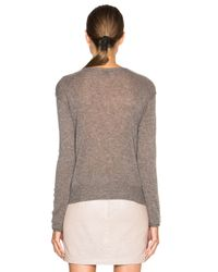 James Perse Brown Cashmere Crewneck Sweater