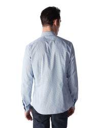 DIESEL - Blue Dot Print Cottonpoplin Shirt for Men - Lyst