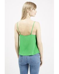 TOPSHOP | Green Button Front Cami | Lyst