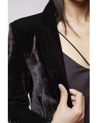 TOPSHOP | Black Premium Velvet Tux Jacket | Lyst