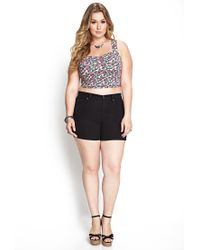 Forever 21 - Blue Dusty Rose Crop Top - Lyst