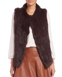 Joie - Red Andoni Rabbit Fur Vest - Lyst